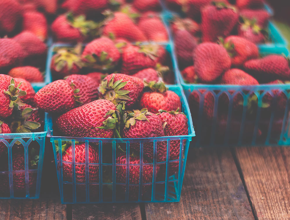 strawberries eco-friendly 4th of July tips